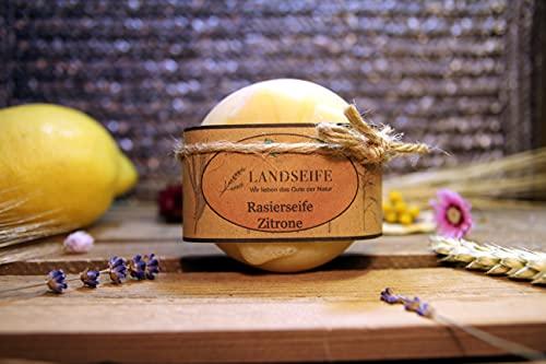 Landseife Bio Rasierseife Zitrone - Handgefertigte Bio Naturseife