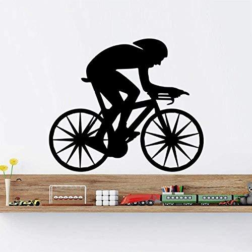 Muursticker Biker Bike Sport Supreme Vinyl Sticker Home Decoratie 57X66Cm