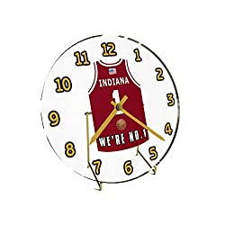 College Basketball USA - We're Number ONE College Hoops Jersey Themed Clocks - Support Your Team !!! (Indiana Hoosiers)