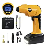 Air Compressor Tire Inflator - Handheld Electric 150 PSI Portable Air Compressor Cordless Car Tire Pump with Rechargeable Li-ion Battery and USB Charging Cable, Digital Pressure Gauge