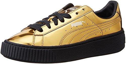 Puma - Zapatillas deportivas con plataforma, color dorado metalizado dorado Size: 36