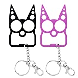 2 Pack Bottle Opener Keychain with Key Ring, Key Chain Women for Car Keys Gift, No Touch Cat Keychain Fashion Design Bag Charm Pendant