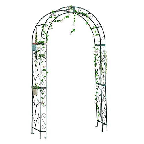 Marco Retro Arco de la Planta de Hierro Forjado Escalada Vid de la Flor del Soporte Clematis Gran Arco al Aire Libre Patio decoración del jardín, Ideal para la Escalada viñedos y Plantas