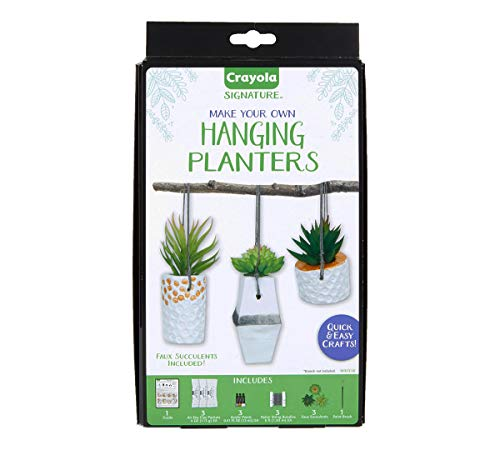 Crayola DIY Hanging Planter Kit, Personalized Planter, Unique Gifts for Mom, 14Pcs