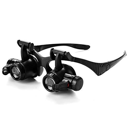 ßÃT Occhiali Binoculari Indossando Lente di Ingrandimento 9892G con Lampada Multi-Eyepiece Scambio