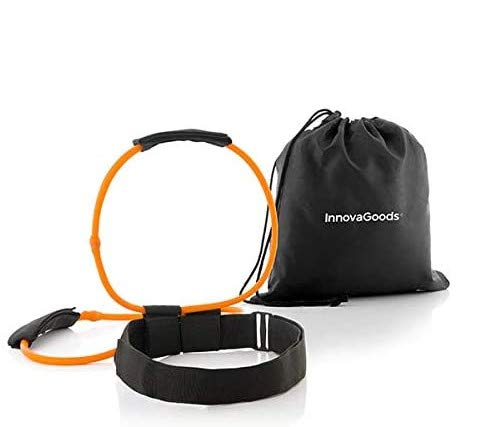 InnovaGoods Cinturón con Bandas de Resistencia para Glúteos y Guía de Ejercicios Bootrainer, Adultos Unisex, Negro, Naranja,