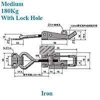 盛世汇众 2個/ロット鉄の304ステンレス鋼のトグル掛け金ラッチクランプでロック穴Uシャックルトレーラー工業用ボックス (色 : Iron Medium)