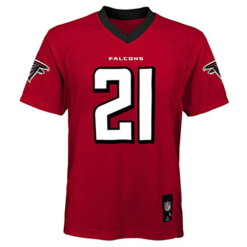 Outerstuff Deion Sanders Atlanta Falcons Kids 4-7 Red Home Mid-Tier Jersey (7)