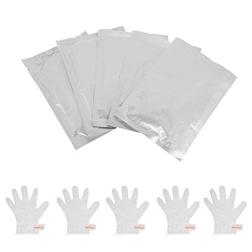 Maschera per mani 5 coppie, esfoliante idratante Nourish Whitening File idratante anti-rughe Guanti Cura della pelle Mano levigante