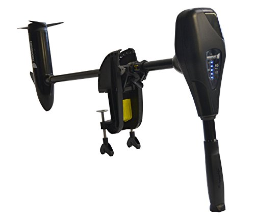 Newport Vessels NV-Series 46lb Thrust Saltwater Transom Mounted Trolling Electric Trolling Motor w/LED Battery Indicator & 30 Shaft
