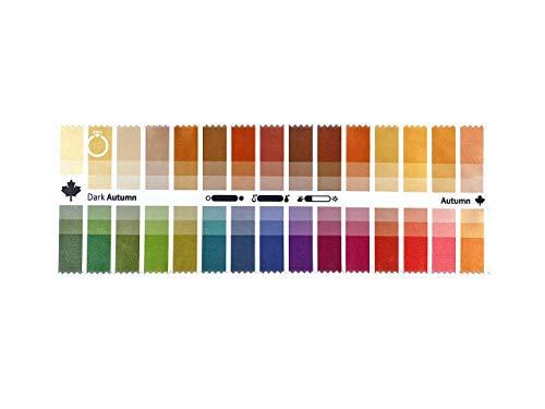 Stoff-Farbpass Herbst (Dark Autumn) mit 30 typgerechten Farben zur Farbanalyse, Farbberatung, Stilberatung