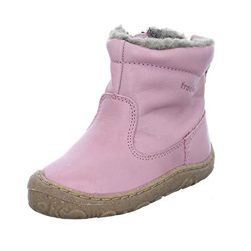 Froddo Kinder Stiefel G2160050 Mädchen Winterstiefel Echtleder mit natürlicher Wolle Pink (Rosa) Größe 20 EU