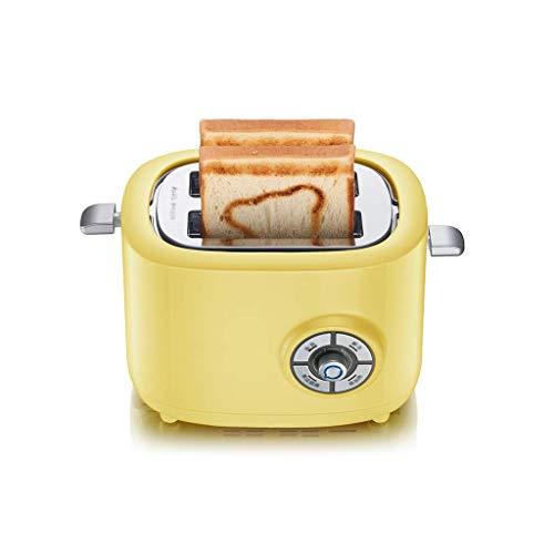 Barir Tostadora de 2 rebanadas, Hogar Desayuno máquina Tiene Cancel/descongelar y función de recalentamiento, Deslizar la Bandeja recogemigas, tostadora de Pan 680W Inicio Tostador
