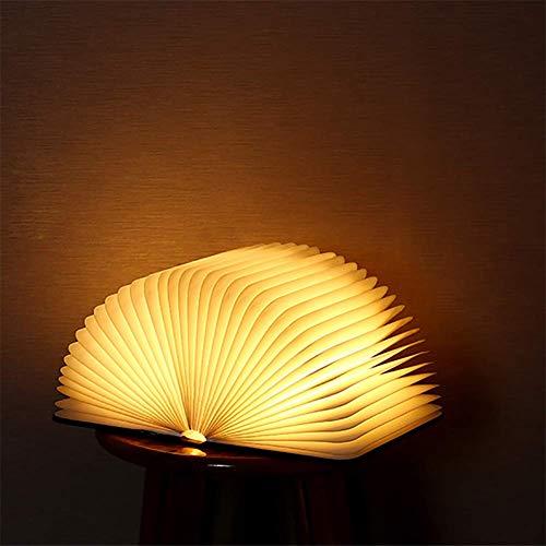 CUICAN Folding Led-tafellampen, boek vooraan zijkant, creatief leeslampje, magneetdesign, geschikt voor slaapkamer, bed, kinderkamer