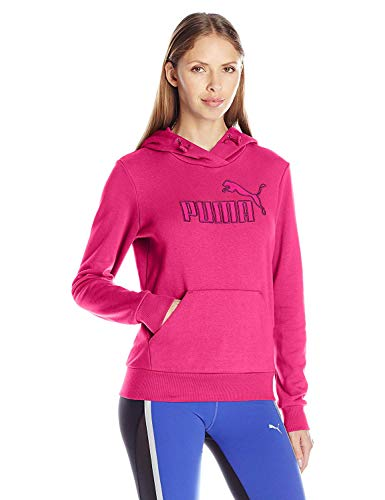 Puma - Sudadera con capucha para mujer, color morado fucsia, talla XS