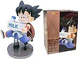 Rekaf Anime Model Characters 16cm Action Figurine Collectable Goku Moll Goku Milk Dragon Ball Z Anime Figuras Lindo para niños Goku Modelo DBZ Toy Animations Modelo de carácter