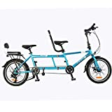 HAGUOHE City Tandem Bicycle Shimano Variable Speed Bike Riding Couple Entertainment Universal...
