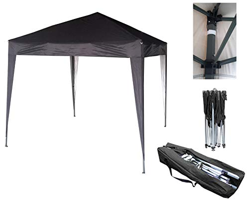 MCC - 2x2m Pop-up Gazebo Waterproof Outdoor Garden Marquee Canopy[Black* Blue* Beige* Green*] (NS) (Black)