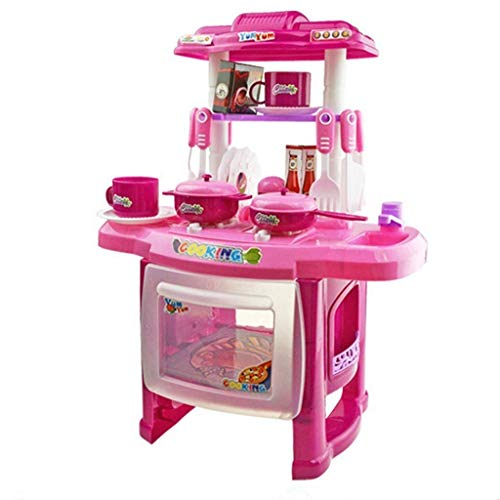 PMU Juego de Cocina, Juguetes de Cocina para niños, Juego de Cocina de plástico para bebés y Accesorios de Juguete para Todoterreno, niñas y niños