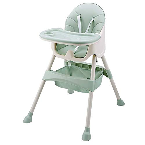 Baby High Chair, FOME Baby Feeding Chair Toddler Chair Snack High Chair Seat Toddler Booster Furniture Detachable Double Tray Non-Slip Feet Adjustable Legs for Baby & Toddler 6 Months to 36 Months