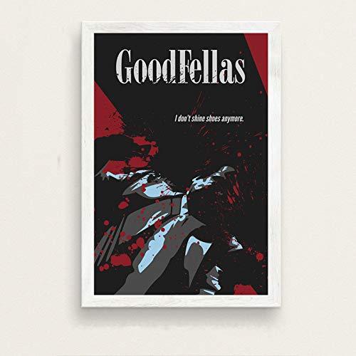 Weiteng Película clásica Goodfellas HD Canvas Poster Arte de la Pared Sala de Estudio Dormitorio Decoración del hogar 50x70 cm (19.68x27.55 in) A-154