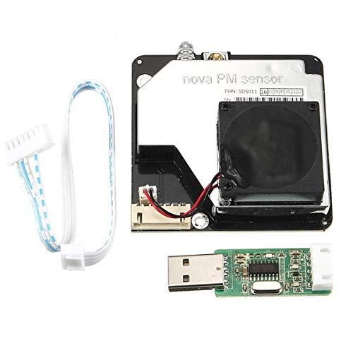 hgbygvuy Nova PM Sensor SDS011 Laser di Alta precisione PM2.5 Sensore sensore di rilevamento del Carattere Aria MODULO SENSATORE Crack Dust Tester Uscita Digitale S