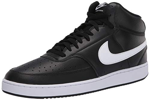 Nike Court Vision Mid, Chaussures de Basketball Homme, Multicolore (Black/White 001), 43 EU