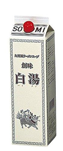 創味食品 九州風ラーメンスープ 白湯 1.8L