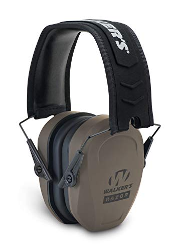 Walker's Game Ear Razor Slim Passive Earmuff - Ultra Low-Profile Earcups - Flat Dark Earth (GWP-RSMPAS-FDE)