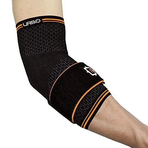 Urbo Ellbogen Bandage mit ergonomischer Unterstützung bei Problemen wie Tennisarm, Mausarm, Golferarm, Sehnenscheidenentzündung und Verletzungen durch wiederholte Belastung (Mittel)