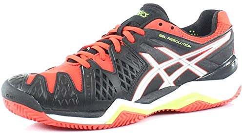 ASICS - Gel Resolution 6 Clay, Color Negro, Talla UK-7.5