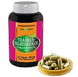 VITAIDEAL ® Traubensilberkerze-Wurzel (Schlangenwurzel, Cimicifuga racemosa) 180 Kapseln je 450mg,...