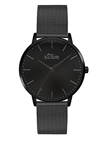 s.Oliver Damen Analog Quarz Armbanduhr mit Edelstahl Armband SO-3447-MQ