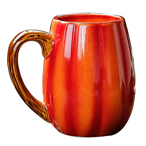 YINYUEDAO Thanksgiving,Cartoon theme, Ceramic Mug, 3D Pumpkin Cup, Tea, Milk, Coffee, Hot Cocoa, Party, Craft Furnishings, Gifts Box Packing/ 12 OUNCE