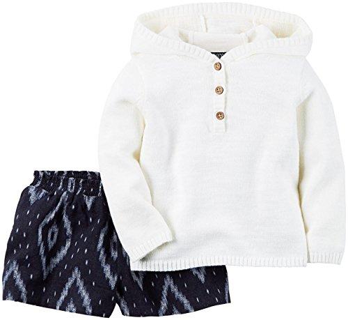 Carter's 50/56 gebreide trui + shorts combinatie 2-delige outfit voor meisjes baby USA Size Newborn