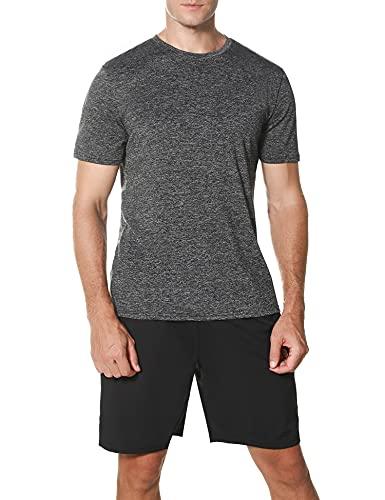 Wayleb Conjunto Chandal Hombre Completo Verano Conjuntos Deportivos para Hombre Conjuntos 2 Pieces Set Camiseta y Pantalones Cortos Traje Deportivo de Manga Corta