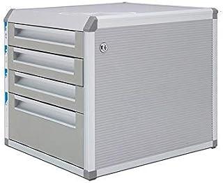 KANJJ-YU Tiroir trieuses, bureau de bureau tiroirs Armoire de table Grand 5 couches de données verrouillables en alliage d...