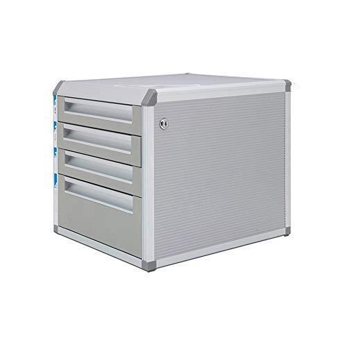 LHQ-HQ Schublade Sorter, Tabletop Office Desktop Schubladenschrank Große 5-Schichten Abschließbare Aluminiumlegierung Daten Zeitung Racks (Größe: 12.6in * 14in * 16in) (Größe: 4-Schichten) Zeitungsstä