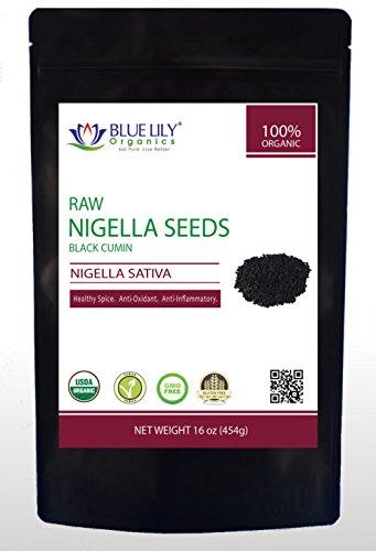 Blue Lily Organics Raw Black Seeds (Nigella Sativa) - 3 Pack(3 Lb Total) - Certified Organic