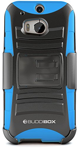 HTC One M8 Case, BUDDIBOX [HSeries] Heavy Duty Swivel Belt Clip Holster with Kickstand Maximal Protection Case for HTC One M8, (Black)