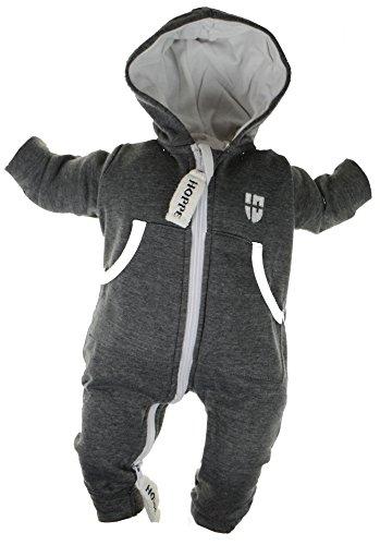 Gennadi Hoppe Baby Jumpsuit - Overall, dunkelgrau, 30-36