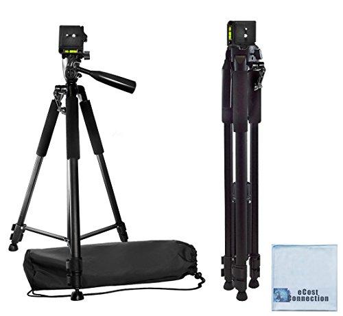 "60"" Pro Series Professional Camera Tripod for Canon, Nikon, Sony, Samsung, Olympus, Panasonic & Pentax + eCost Microfiber Cloth"