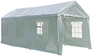 Palm Springs 10 X 20 Heavy Duty White Party Tent Gazebo with Sidewalls 002