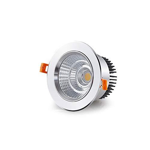 Alto brillo COB Downlight Comercial / Inicio proyectores de aluminio empotrar la lámpara de techo redondo clásico LED empotrada en el techo de panel plano de luz Embedded Spotlight integrado Montaje d