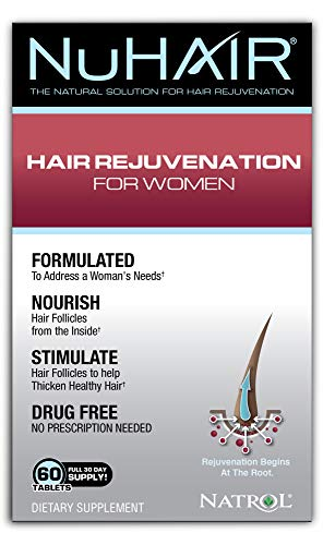 Price comparison product image NuHair Hair Rejuvenation for Women Tablets,  60 Count