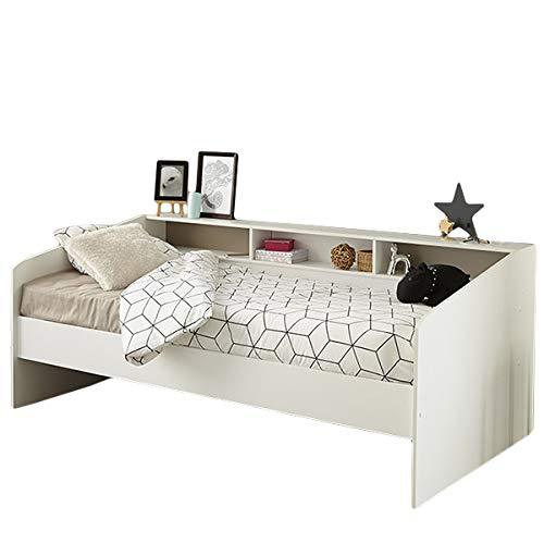 Funktionsbett Sleep Parisot 90 * 200 cm weiß mit Regalwand Jugendzimmer Kinderzimmer Gästezimmer Bett Kinderbett Jugendbett Bettliege