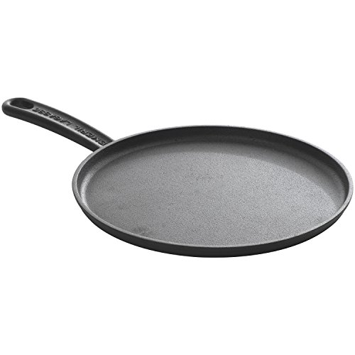 Emeril Lagasse , pre-seasoned cast iron 11-inch round griddle , black