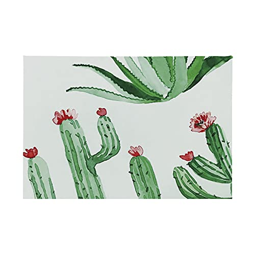 Estera De Mesa De Impresión 3D De Cactus Verde, Mantel De Dibujos Animados Grueso Impermeable Y A Prueba De Aceite, Adecuado para Cafés Y Hoteles