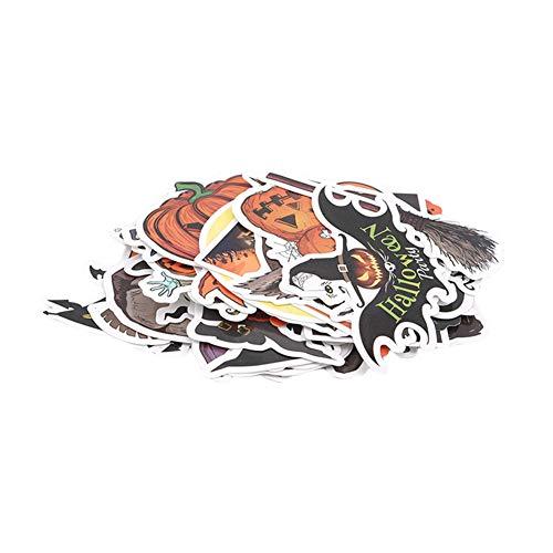 Ellepigy - Pegatinas de vinilo para Halloween, 50 unidades, autoadhesivas, impermeables