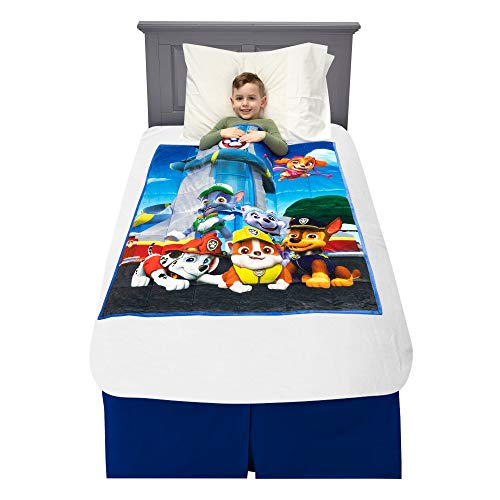 "Franco Kids Bedding Super Soft Plush Weighted Blanket, 36"" x 48"" 4.5lbs, Paw Patrol,AB0238"
